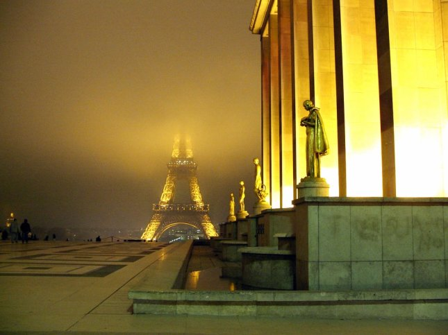 Eiffel Tower In The Mist - parisdaily