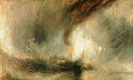 Tempesta di neve sul mare (particolare) - W. Turner