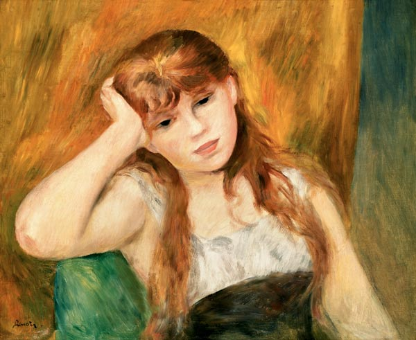 Young thoughtful girl - P.-A. Renoir