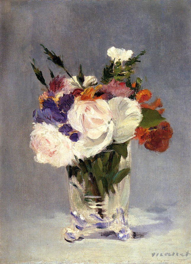 Flowers In A Crystal Vase 1882