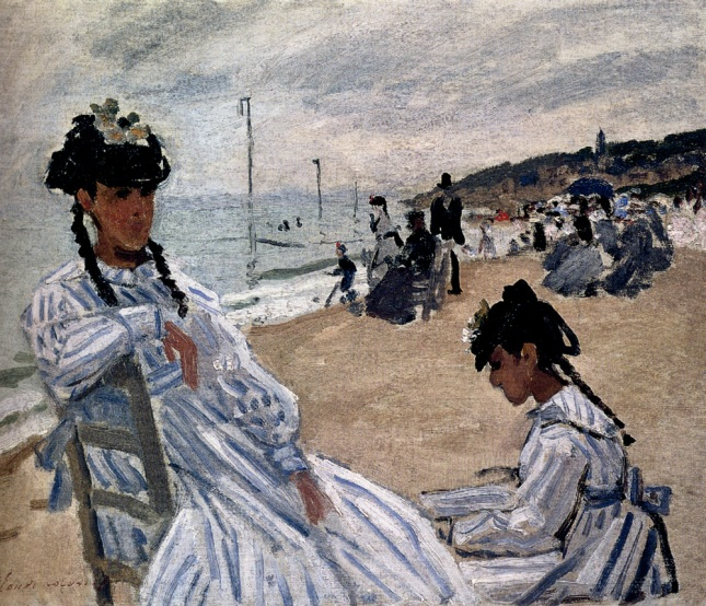 Monet_On_The_Beach_At_Trouville