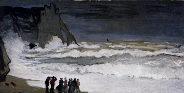 Monet_Rough_Sea_At_Etretat