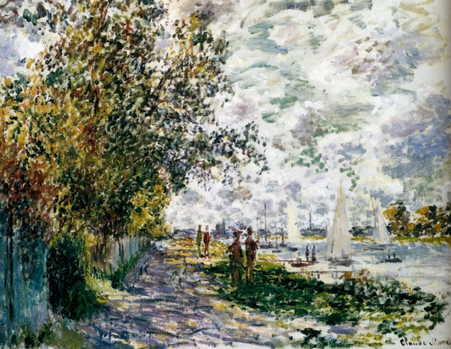 Monet_The_Riverbank_At_Gennevilliers